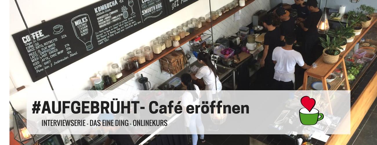 Respekt Herr Spechts Schwerpunktthema 2017: Lebenstraum Café eröffnen