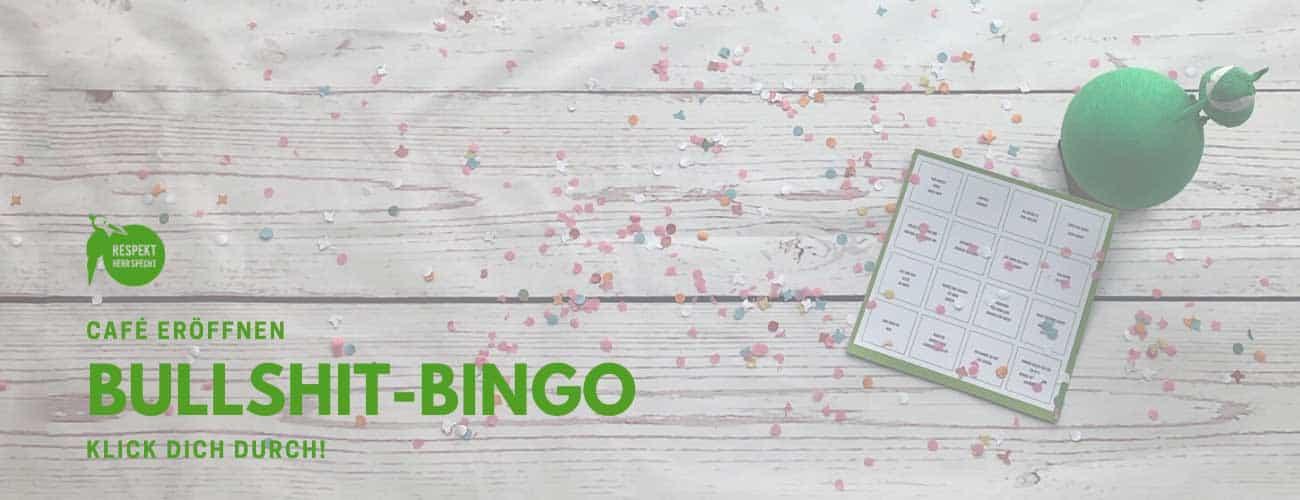 Café eröffnen Bullshit Bingo
